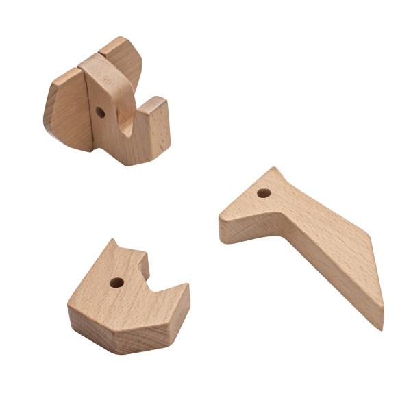 sebra Wandhaken aus Holz, Nashorn und Freunde (NEU)
