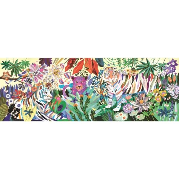Djeco Puzzle Gallerie: Rainbow Tigers - 1000 Teile