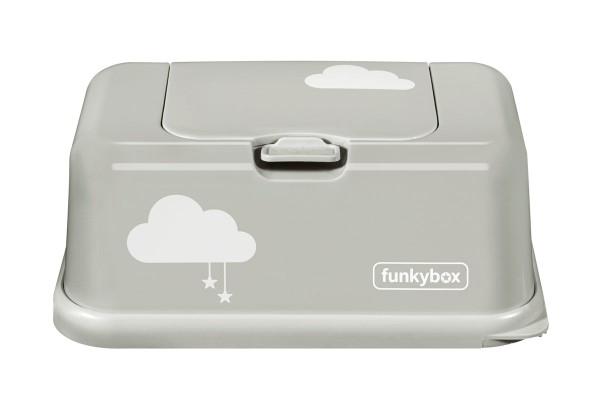 Funkybox Feuchttücher Box hellgrau - Wolken
