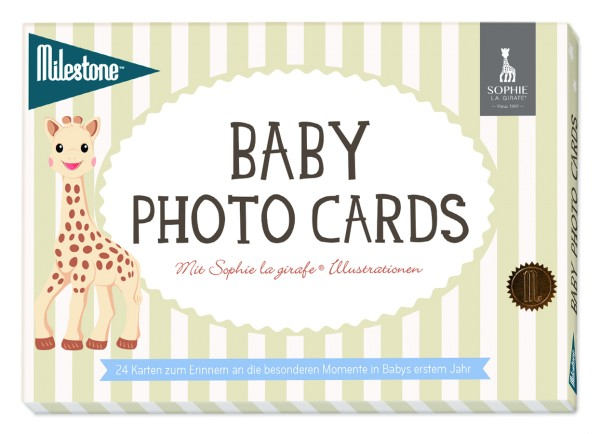 Milestone - Sophie la girafe Baby Photo Cards - deutsche Version