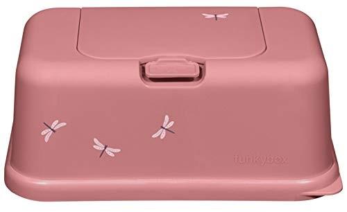 Funkybox Feuchttücher Box - rosa Libellen