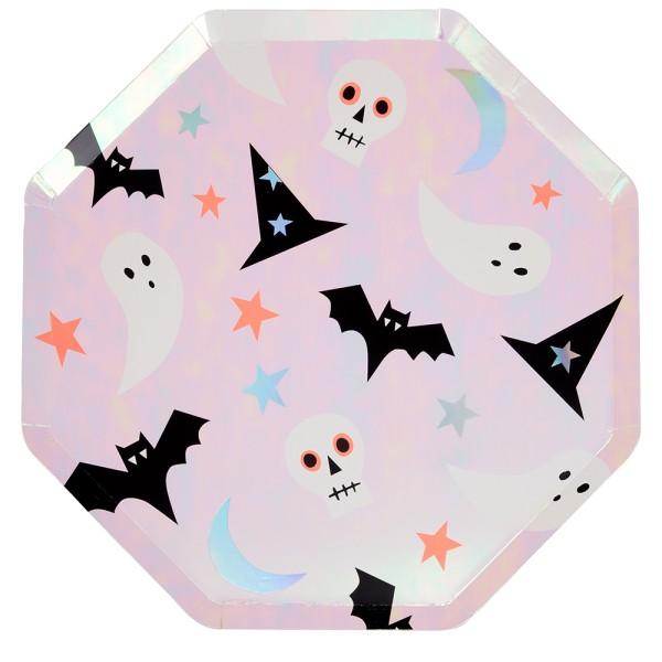 Meri Meri 8 große Papp-Teller mit Halloweenmotiven