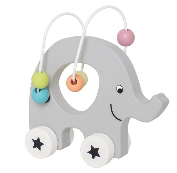 JaBaDaBaDo Zieh-Elefant mit Perlen Labyrinth