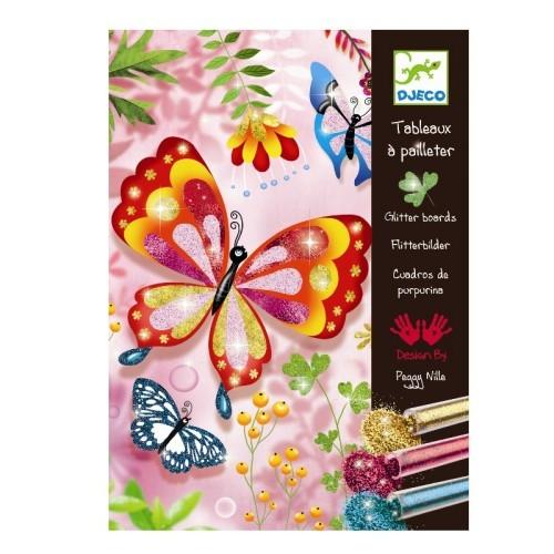 Djeco Bilder mit Glitzer Schmetterlinge