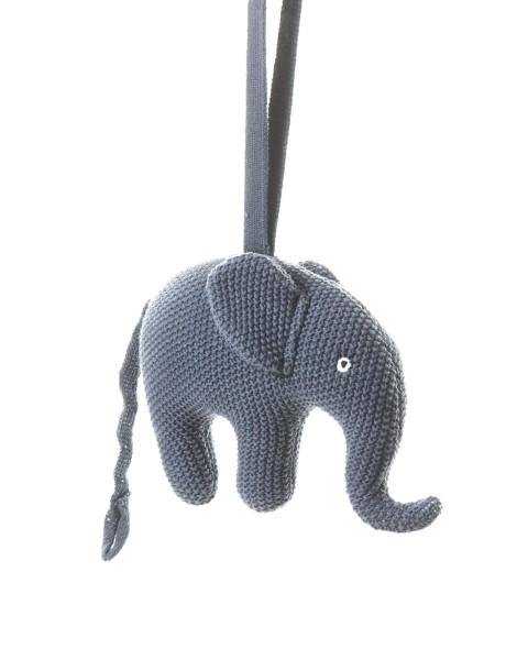 Smallstuff Spieluhr gehäkelt Elefant blau