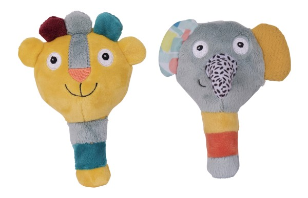 Ebulobo Jungle Boogie Rasseln Löwe und Elefant 2er Set