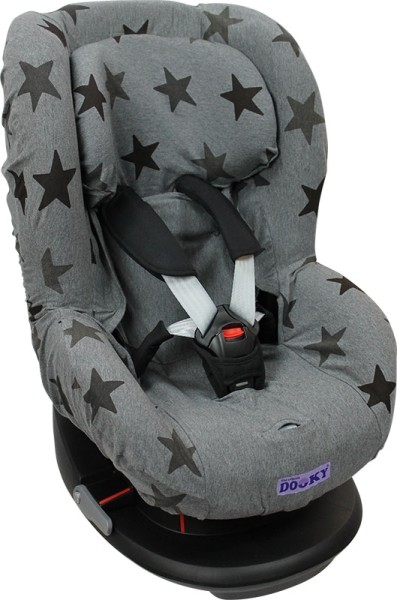 Dooky Kinderautositzbezug Gruppe 1- Grey Stars