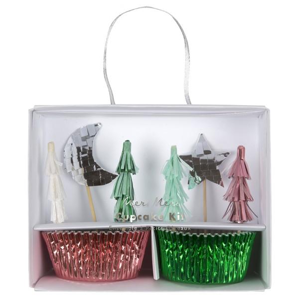 Meri Meri Cupcake-Deko-Set mit Weihnachtsmotiven