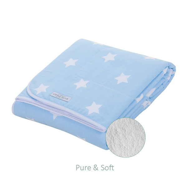 Little Dutch Babydecke Pure & Soft Star blau