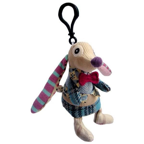 Les Deglingos Mini-Anhänger Nonos der Hund