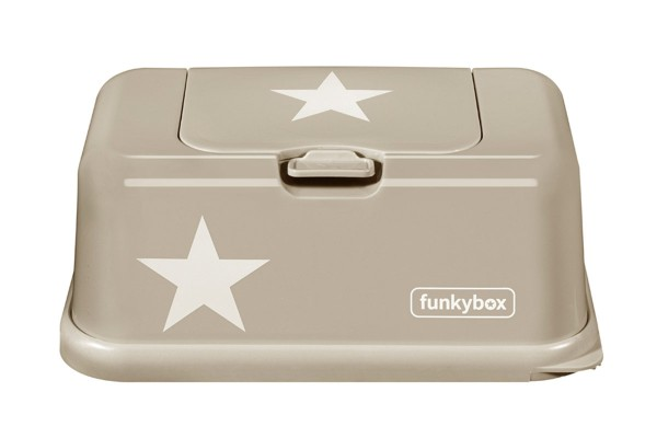 Funkybox Feuchttücher Box beige - weißer Stern