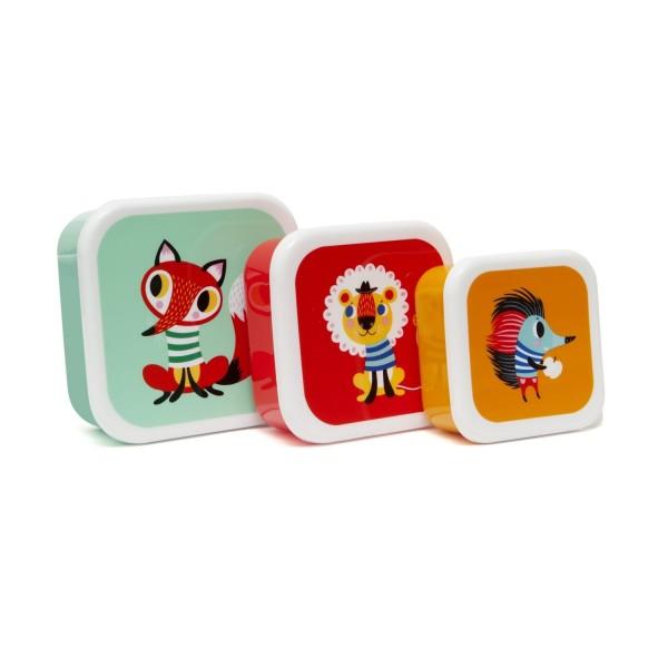 Petit Monkey Lunchbox - 3er Set Tiere