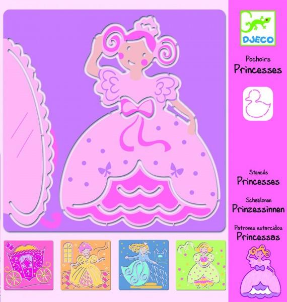 Djeco Schablonen Prinzessinen