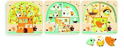 Djeco 3 Schichten Puzzle Baumhaus