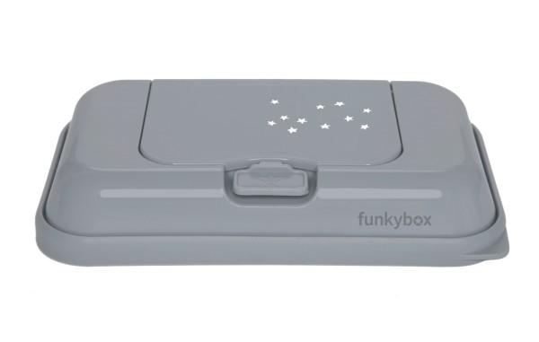 kleine Sterne FUNKYBOX Feuchttücher Box grau