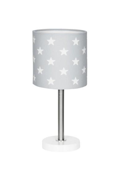 LIVONE Tischlampe Happy Style for Kids - STARS grau