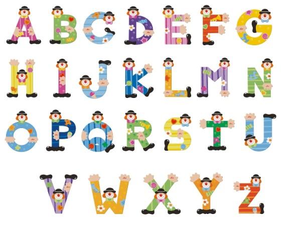 SEVI Holzbuchstaben Clown