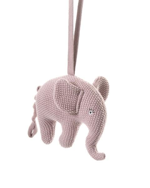 Smallstuff Spieluhr gehäkelt Elefant rosa
