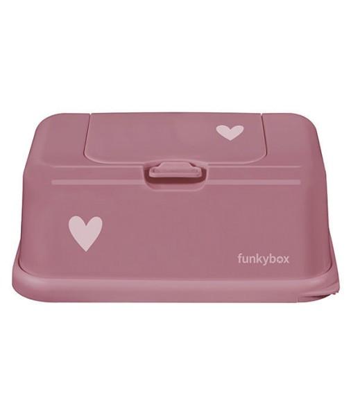 Funkybox Feuchttücher Box rose - Herz