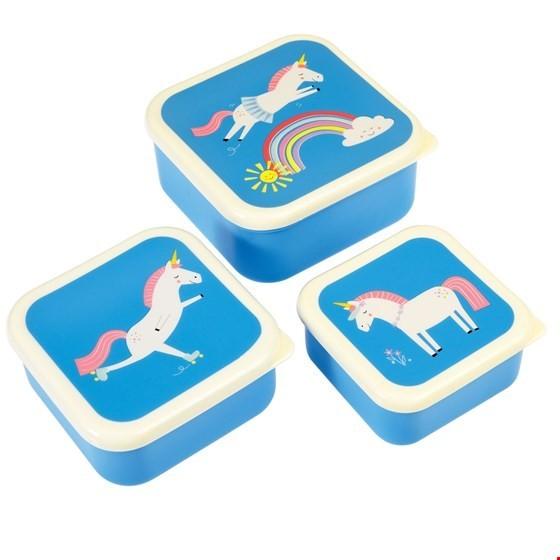 Rex London 3er Set Snackdosen Magical Unicorn