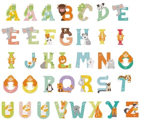 Sevi Holzbuchstaben Tiere NEU