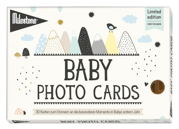 Milestone - Over the moon Baby Photo Cards - deutsche Version