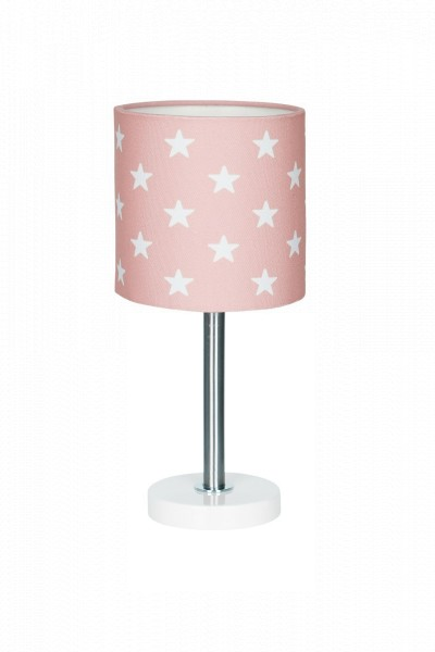 LIVONE Tischlampe Happy Style for Kids - STARS rosa