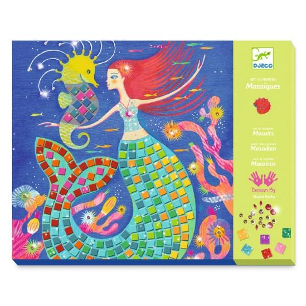 Djeco Kinderkunst Mosaik Glitzer: Der Gesang der Meerungfrauen
