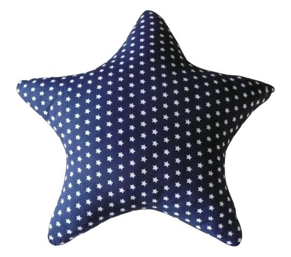 Kissen Stern dunkelblau