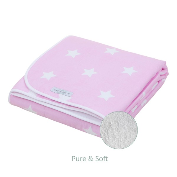 Little Dutch Babydecke Pure & Soft Star rosa
