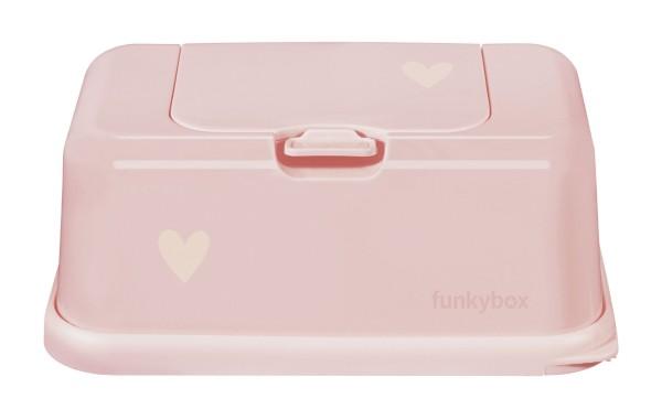 Funkybox Feuchttücher Box rosa - kleines Herz