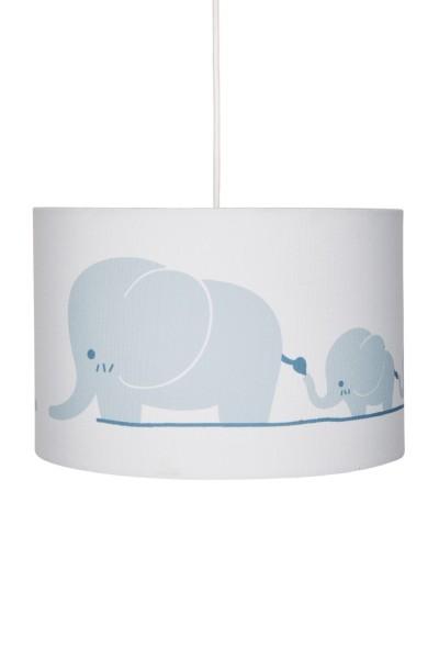 LIVONE Hängelampe Happy Style for Kids - Elefanten blaugrau/weiss