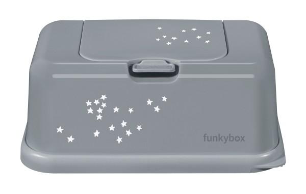 Funkybox Feuchttücher Box grau - kleine Sterne