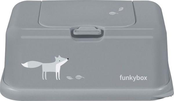 Funkybox Feuchttücher Box grau - Fuchs