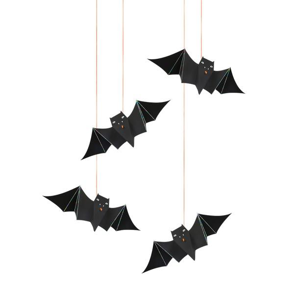 Meri Meri 6 Fledermäuse zum Aufhängen