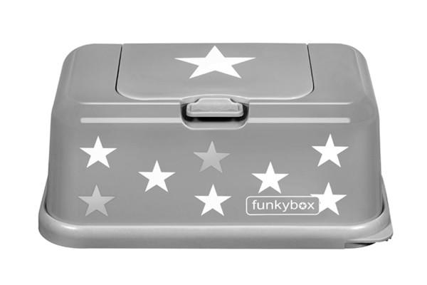 Funkybox Feuchttücher Box grau - Sterne