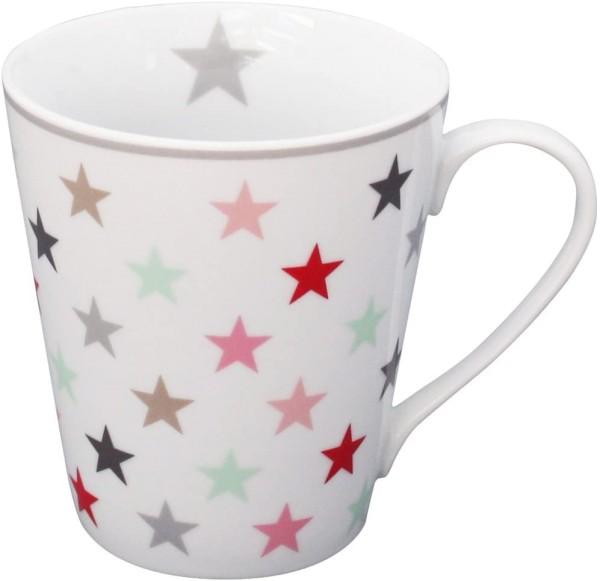 Krasilnikoff Tasse Sterne bunt