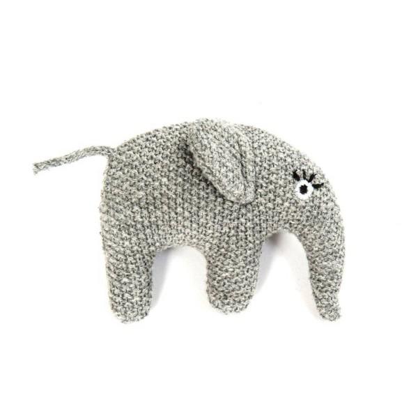 Smallstuff gehäkelte Rassel Elefant grau