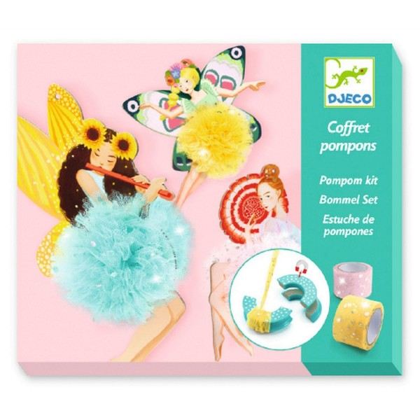 Djeco Wolle: Pompoms Feen