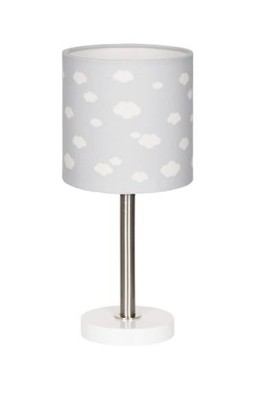 LIVONE Tischlampe Happy Style for Kids - WOLKE 7 grau/weiss