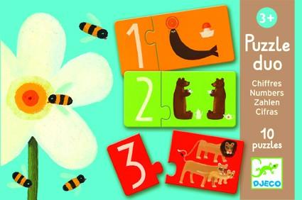 Djeco Zahlen Puzzle Duo