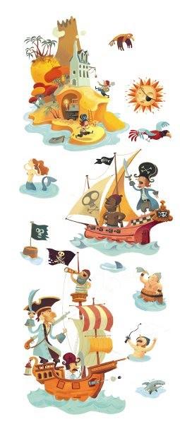Djeco Wandsticker Die Schatzinsel der Piraten