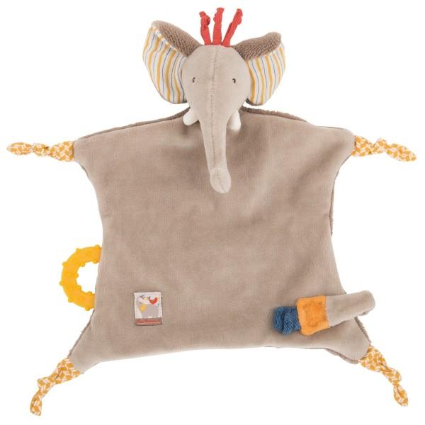 Moulin Roty Papoum Kuschelschnullerhalter Elefant