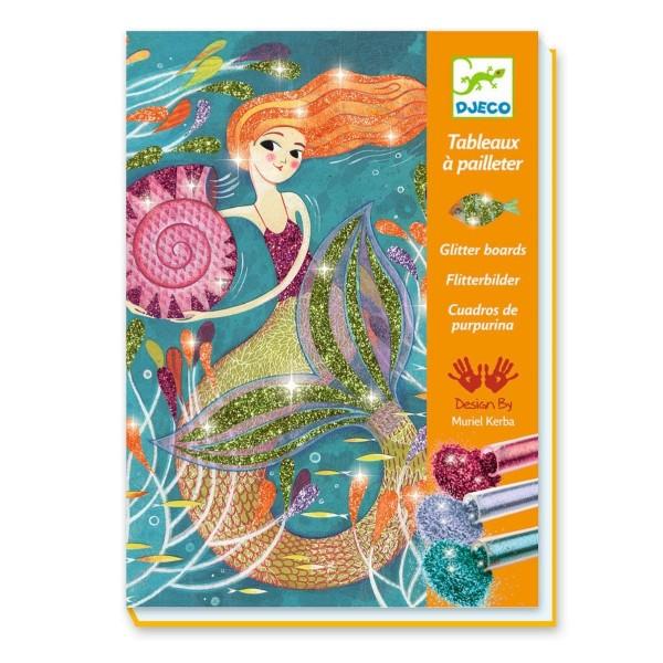 Djeco Bilder mit Glitzer Meerjungfrauen