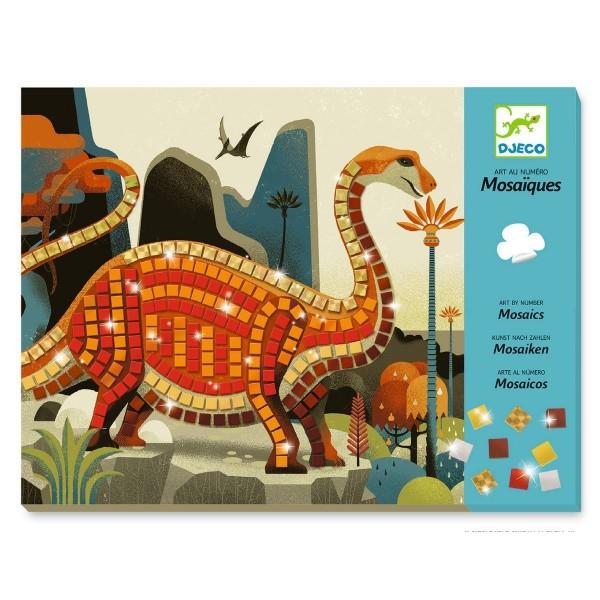 Djeco Kinderkunst Mosaik Dinosaurier