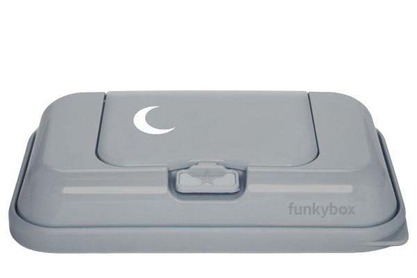 Funkybox TO GO Feuchttücher Box grau - Mond
