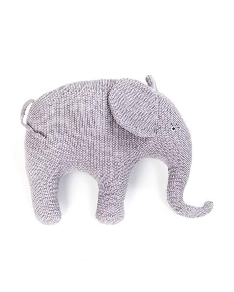 Smallstuff gehäkeltes Kissen Elefant rose