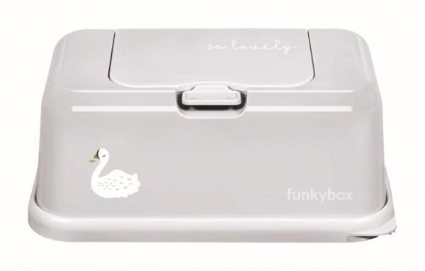 Funkybox Feuchttücher Box Schwan grau