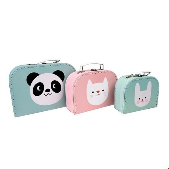 Rex London Kofferset Panda, Katze und Hase