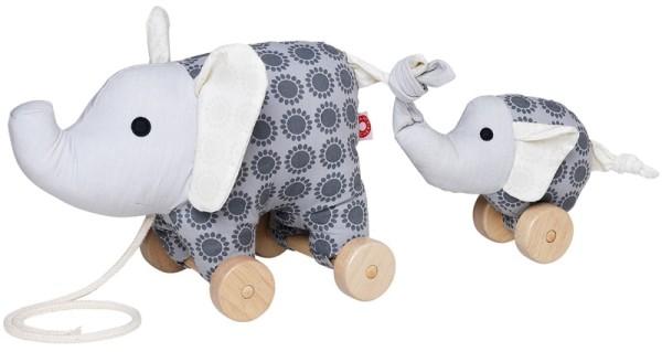 Franck und Fischer Nachziehtier Elefant grau Noma + Baby